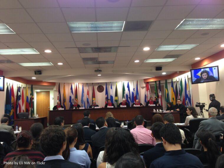 Bild på den Interamerikanska domstolen för de mänskliga rättigheterna.